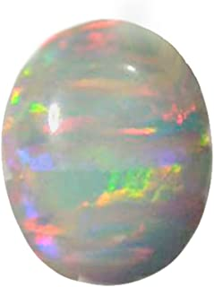 uGems Created Opal Cabochon for Fine Jewelry Fiery White