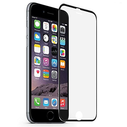 MuStone Screen Protectors compatible for iPhone 7 8, 9H Hardness Tempered Glass Screen Protector 3D Full Coverage 4.7' inch compatible for iPhone 7 8(Metal Black)