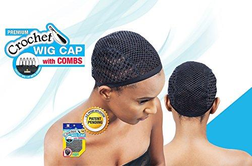 FREETRESS SHAKE N GO Premium CROCHET WIG CAP WITH COMBS