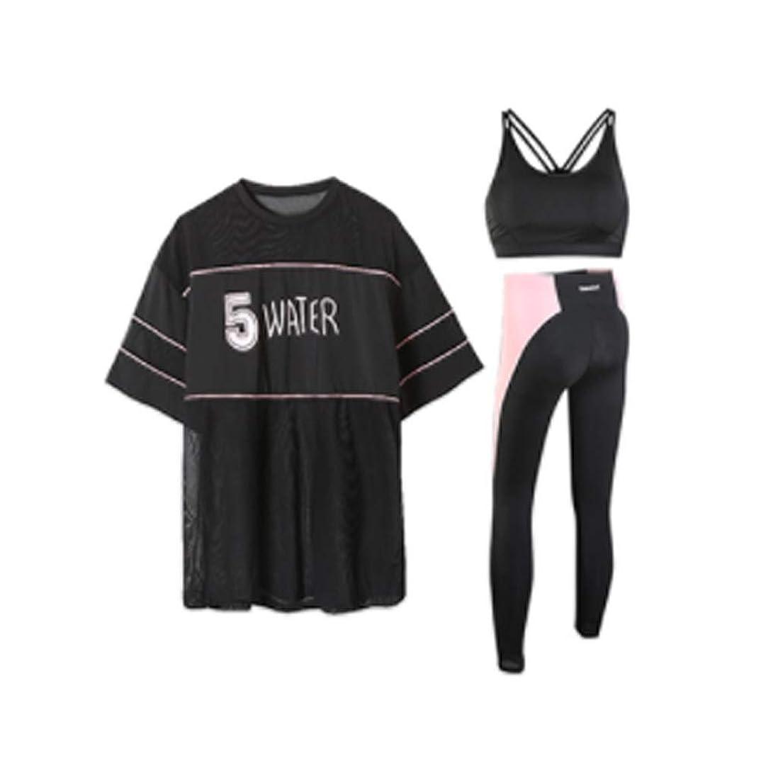 ライドライオン釈義女性用ジムランニングセット速乾性ヨガフィットネス服速乾性服 (Color : 2, Size : XXXL)