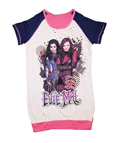 Disney Camicia da Notte Bambina Mezza Manica Cotone Descendants Art. WD22795 (10 Anni)