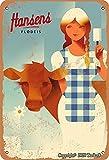 BIGYAK Cartel de helado con leche, aspecto vintage, 20 x 30 cm, para decoración de pared, para el hogar, cocina, baño, granja, jardín, garaje, citas inspiradoras