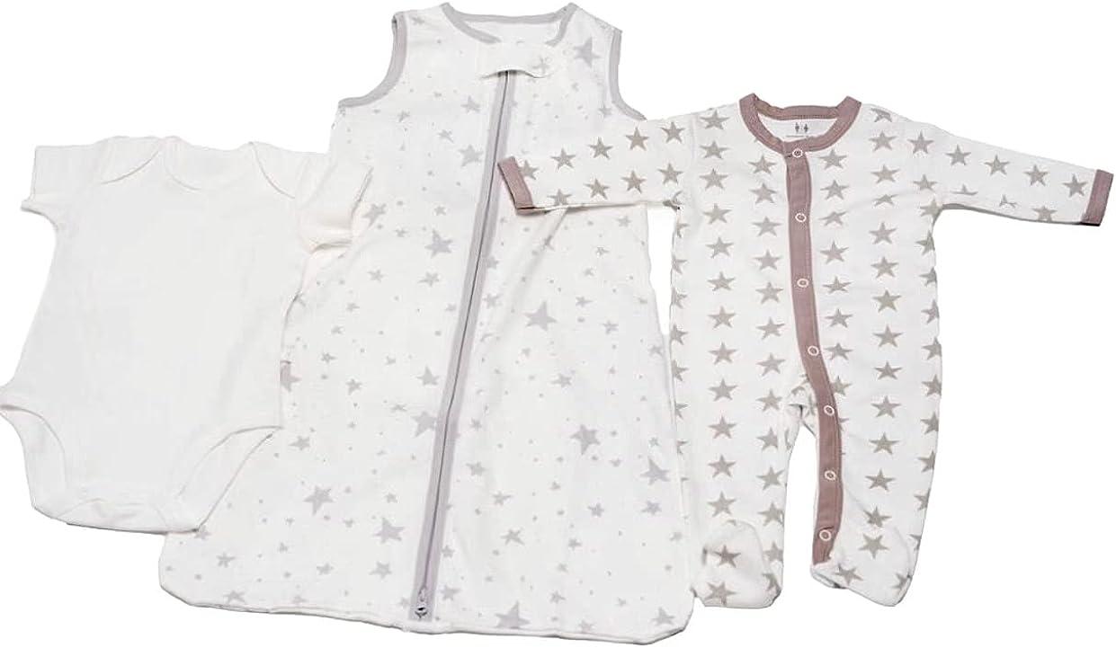 3 Pack Cotton Baby Sleeper Set