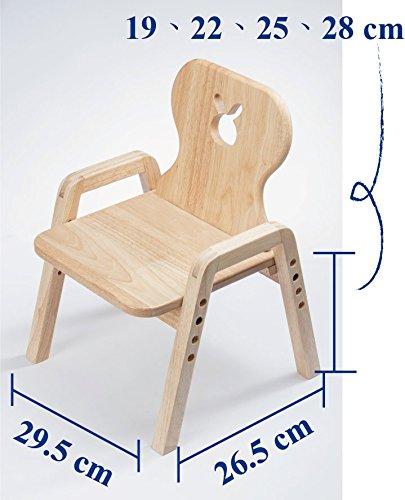 Mitwachsende Kindersitzgruppe, Stuhl Einzeln, Motiv: Hase, 100% Massivholz