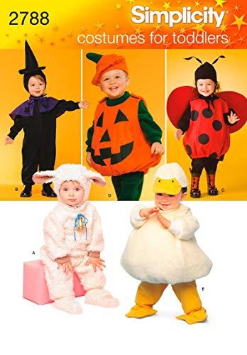 Simplicity A 1/2 – 1-2 – 3-4 snijpatronen 2788 peuter-kostuums