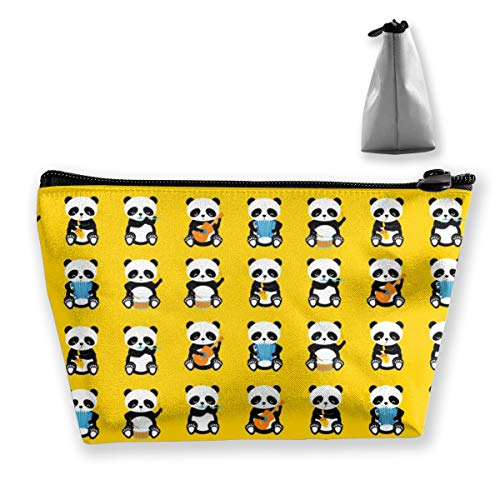 Multi-Functional Print Trapezoidal Storage Bag for Female A Band Pandas