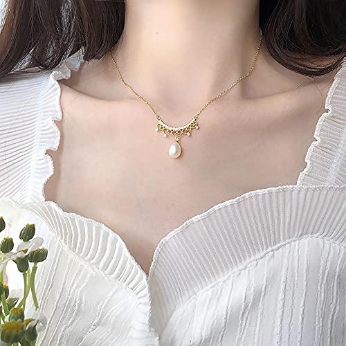 JJTY Colgante de Collar de Perlas para Mujer, Mujeres, niñas, Madre, Hija, Novia, cumpleaños, Aniversario