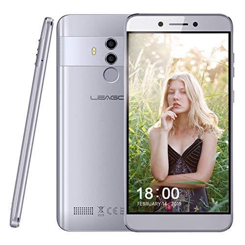 Cellulari in Offerta 4G Smartphone Dual Sim Leagoo T8S-5.5 Pollici FHD, Riconoscimento Facciale, Fotocamera(13MP+2MP e 5MP), Octa-Core Cellulare 4GB RAM+32GB ROM, Impronte Digitali, Android 8.1-Grigio