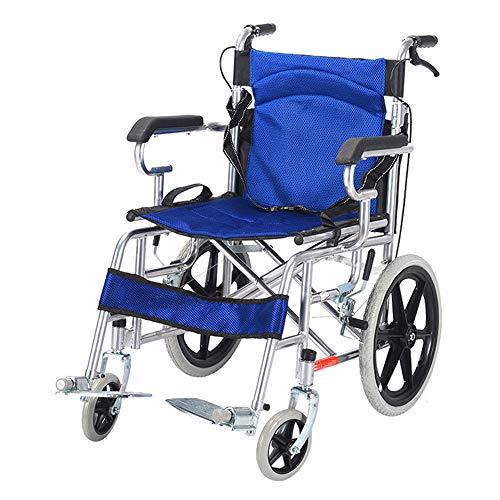 Silla de ruedas Ayudas de movilidad portátiles plegables para personas mayores Carros de viaje simples Sillas giratorias de movilidad doméstica Adecuado para personas mayores y discapacitadas