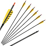 Huntingdoor 32 Inch Hunting Carbon Arrows, Replaceable Points Tips Arrows with 4...