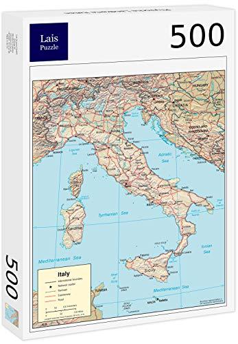 Lais Puzzle Mappa Fisica Italia 500 Pezzi