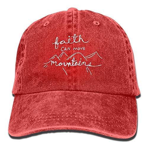 Ocaohuahuaba 2018 Gorra de béisbol de algodón vaquero de la moda para adultos Our Faith Can Move Mountains 1-1 Classic Dad Hat Gorra ajustable lisa