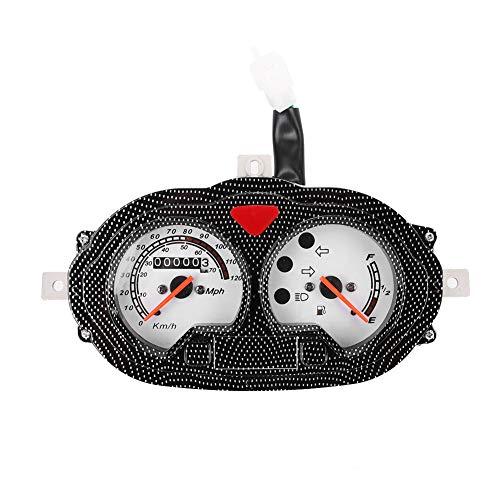 Motorrad Tachometer, Universal Vintage Style Motorrad Roller Tachometer Kunststoff Dash Instrument Geeignet für Roller im B05-, B08-Stil