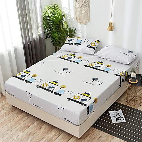 XGguo Protector de colchón Acolchado - Microfibra - Transpirable - Funda para colchon estira hasta Sábana Impermeable cepillada impresión en Color sólido-8_180x220x28cm