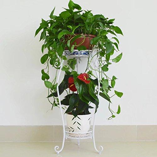 KK- Boden Art żelazny kwiat balkon doniczka na kwiaty stojak zielony regał pokój chlorofitum prosty do salonu stojak na kwiaty biały