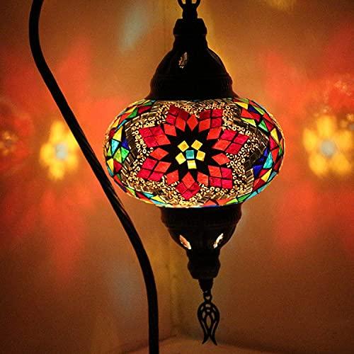 Lámpara turca (10 variaciones) - Lámpara de mesa de mosaico hecha a mano - Lámpara decorativa marroquí - Lámparas rústicas Cool Mosaico - Bombilla LED incluida con caja especial… (8)