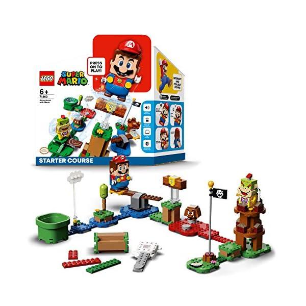 LEGO Super Mario – Pack Inicial: Aventuras con Mario, juguete y regalo creativo para niños y niñas, set LEGO interactivo…