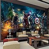 WYH-YW Fototapeten 3D Anime Wand Tapete The Avengers Wohnzimmer Schlafzimmer Büro Flur Dekoration Wandbilder Moderne Wanddeko Wallpaper 150cmx105cm(W×H)