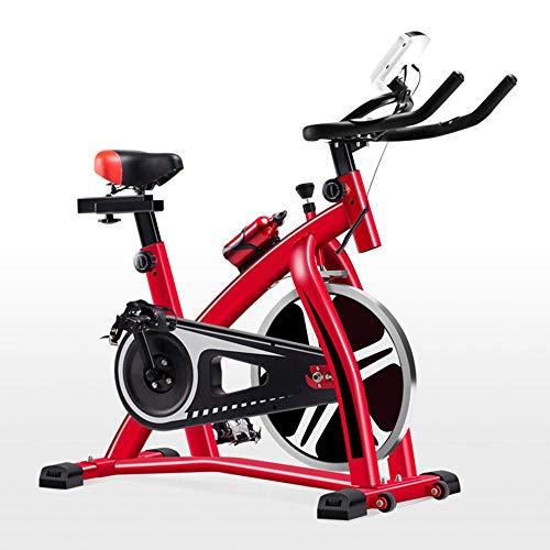 HYJY Bicicleta estática de Interior Ultra silenciosa para Spinning en casa, Rojo