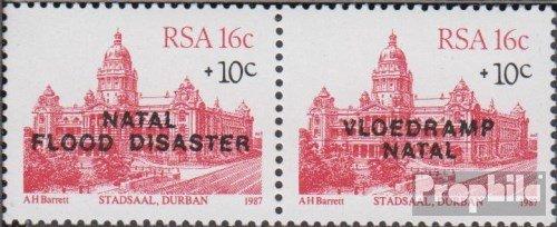 Prophila Collection Sud Africa 714-715 Coppia (Completa Edizione) 1987 Flutkatastrophe in Natal (Francobolli per i Collezionisti)