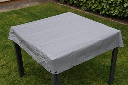 housse de protection pour table de jardin gris carré pour la taille de la table 120x120x15
