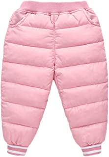 5f201fb31d Toddler Baby Boys Girls Winter Thick Warm Puffer Down Snow Pants Kids Outer  wear Warmer Windproof