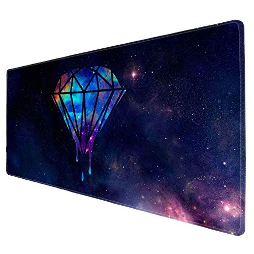 Cholaty Large Mouse Pad XXL Custom Galaxy Diamond Melting Computer Game Mouse Mat Desk Pad Keyboard Mat for Laptop Work & Gaming& Office & Home (31.5×11.8×0.15 inch)