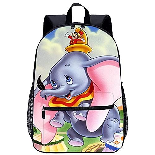 Mochila 3D Mochila Bolso Dumbo Adecuado para: estudiantes de primaria y secundaria, la mejor opción para viajes al aire libre Tamaño: 45x30x15 cm / 17 pulgadas Mochila Infantil para Colegio