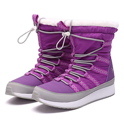 Eureka USA Snow Boot for Men and Women Aspen Winter Boot Lavender