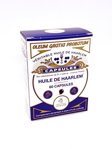 Véritable Huile de Haarlem, 60 capsules originales