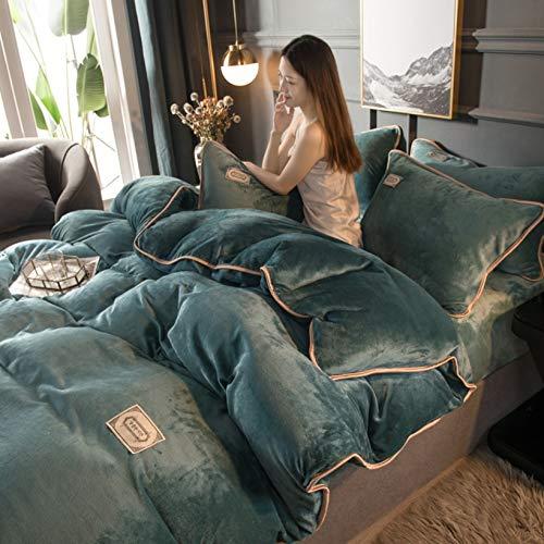 TIANENG Duvet Cover Sets Winter Thick Fleece Comfortable Bedding Set Fashion Warm Super Soft Fluffy Set Of 3/4 Piece