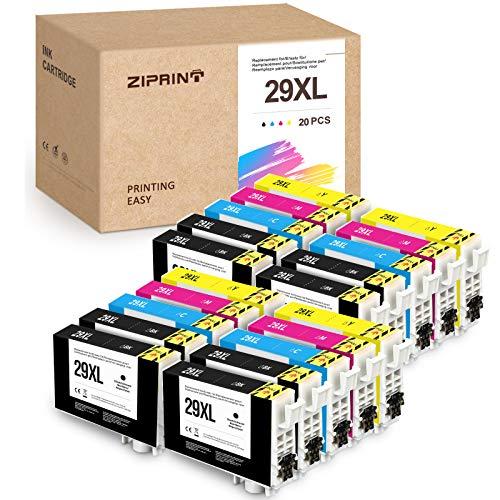 20 cartuchos de tinta Zipper 29XL para Epson 29XL T2991 T29XL T29 compatibles con Epson XP-342 xp-352 xp-245 xp-442 xp-332 xp-345 xp-452 xp455 xp-p-445 xp-2 35xp 355 XP-335