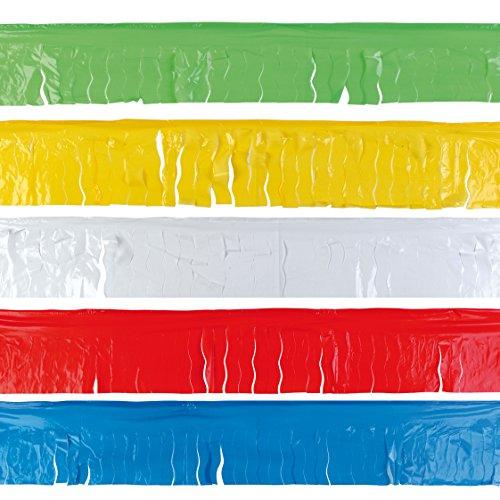 EUTOPICA Pack de 5 Flecos de plástico de 25 Metros