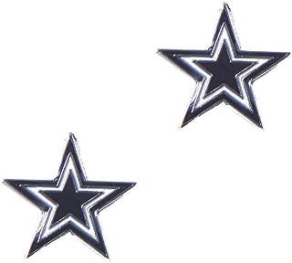 MISC Blue NFL Dallas Cowboys Earrings, Football Themed Star Pattern Stud Logo Jewelry