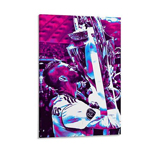 YANGBD Sergio Ramos - Póster de lienzo (60 x 90 cm)