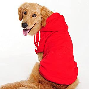 Namsan Dog Sweaters Vest Dog Sport Clothes Hoodies with Leash Hole for Medium to Large Dogs