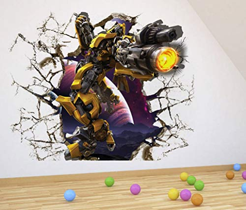 Optimus Prime Bumblebee 3D Wall Stickers Kids Home Decor Decal DIY Gift Poster 60 * 90CM