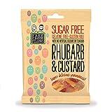 Free From Fellows Gominolas de Ruibarbo y natillas 70g | Sin Gluten | Vegano (Pack de 3)