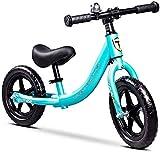 Bicicletas de Equilibrio para Niños,Neumáticos Inflación Libres Eva Niño sin Pedal de Bicicleta,Por 2-6 de Los Muchachos Muchachas Que Se Ejecutan Bici,Bicis Primer Entrenamiento,Azul