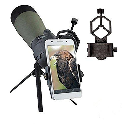 Universal Mobile Phone Holder,Spotting Scope Cellphone Adapter Mount- Universal Digiscoping Binocular, Telescope, Microscope, Monocular etc