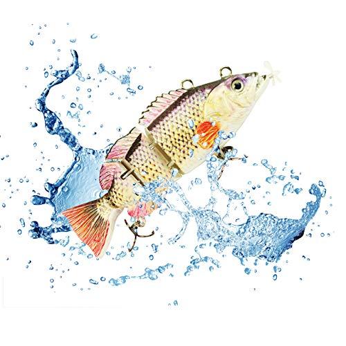UFISH 3.5' Electric Live Bait, Robotic Fishing Lure - Swimming Wobbler...