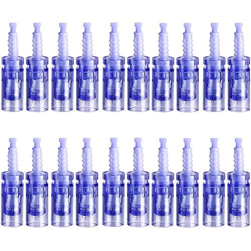 Ultima A6 Dermapen Professional Microblading Pen Électrique Derma Pen Outil de Beauté, Rechargeable Trousse de Soins de la Peau pour Le Visage et Le Corps - 12 Cartouches x2,3dnano