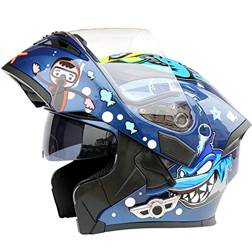 ZHANGYUEFEIFZ Bluetooth Casco Moto Modular para Mujer Hombre ECE Homologado Casco de Moto Integral Adultos con Anti Niebla Doble Visera Casco Integrado con 500mA Auriculares Bluetooth