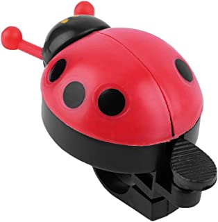 Colorful Plastic Clear and Melodious Bell Sound Lovely Kid Beetle Ladybug Ring Bell for Cycling Bicycle Bike Ride Horn Alarm