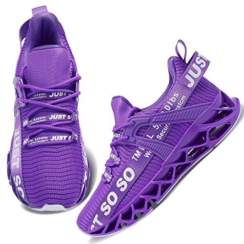 Wonesion Damen Laufschuhe Sportschuhe Straßenlaufschuhe Sneaker Damen Tennisschuhe Fitness Schuhe 40 EU 3 Purple
