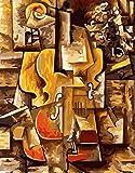 wcyljrb Kit De Pintura Digital De Bricolaje Violín Abstracto Adult Digital Painting Suite Niños Artista Decoración del Hogar 16 X 20 Pulgadas (Sin Marco)