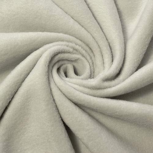 STOFFKONTOR Polar Fleece Stoff Meterware, Fleecestoff zum Nähen mit Antipilling Eigenschaften - Hell-Grau