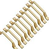 Lote de 10 tiradores de muebles dorados de cocina de 128 mm entre orificios para el tirador de la puerta del mueble