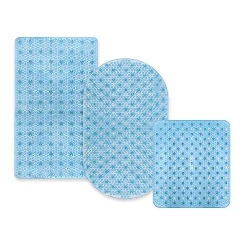 sans PVC//Latex 43x45cm casa pura Tapis de Fond de Bain Relax antid/érapant Bleu Clair 3 Tailles antiglisse pour Douche