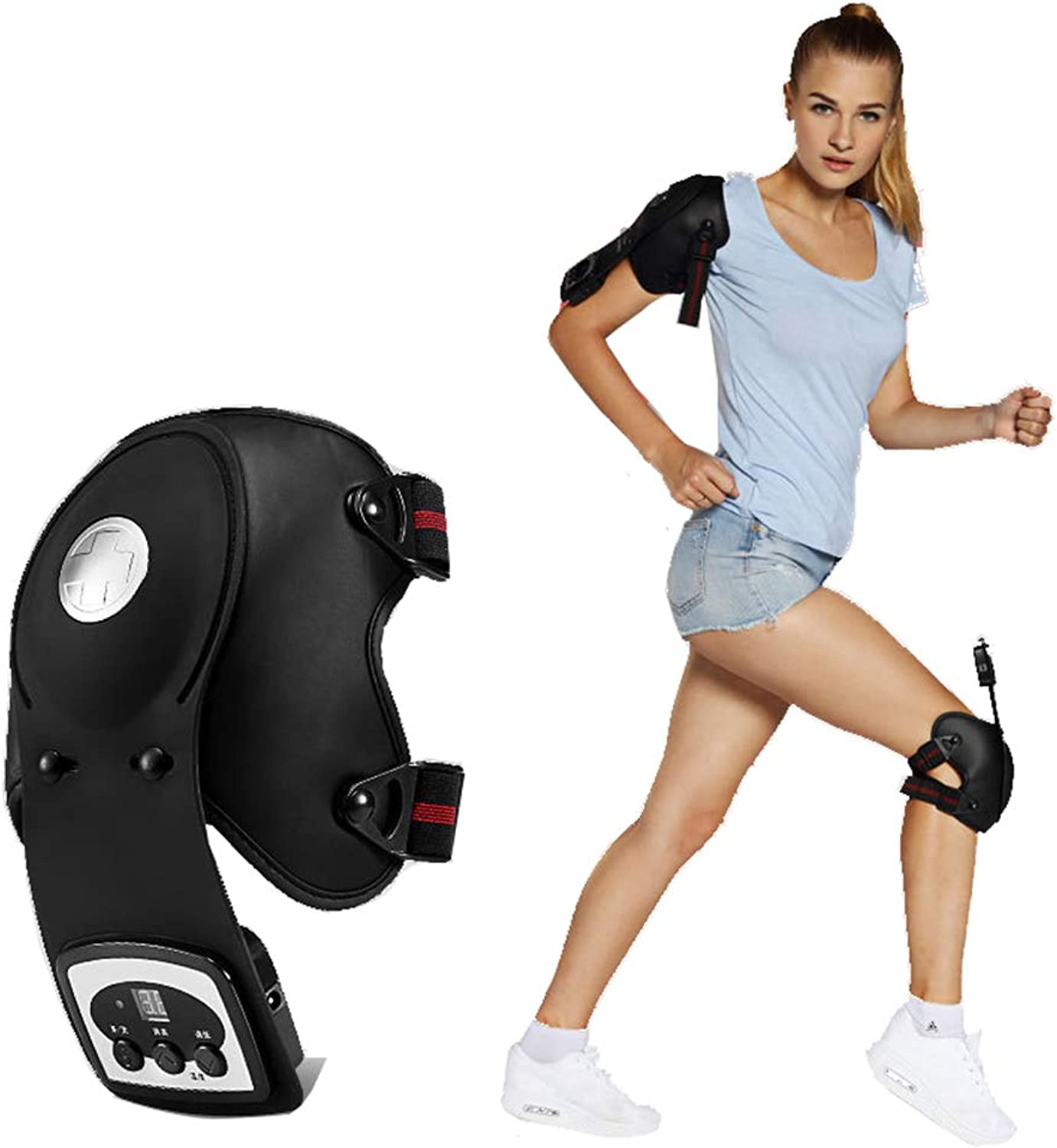 Heat Therapy, Knee Physiotherapy Massager Fit Heated and Vibration Massage Knee and Joint Pain Relief Massager, Gift for Mom Dad Unisex Adults